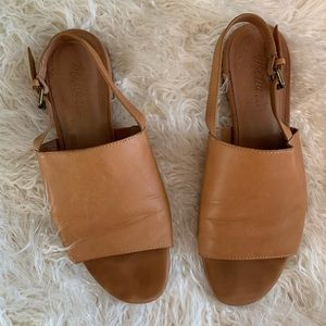 Madewell Noelle Camel Slingback Leather Size 8